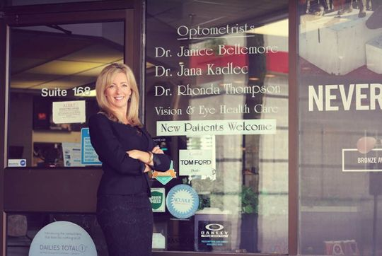 Dr. Janice Bellemore outside of the Windsor Office