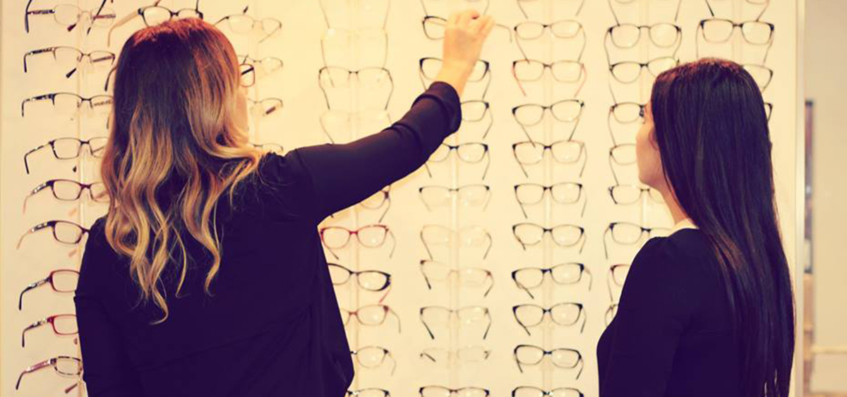 Women looking for glasses