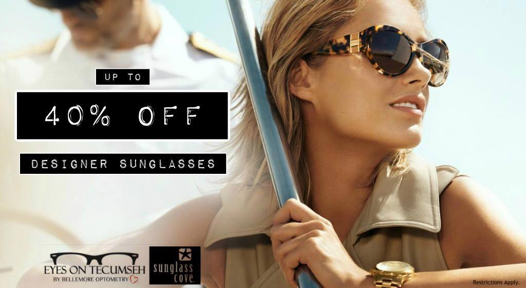 Promotion - Up to 40% off designer sunglasses
