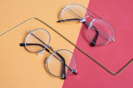 eyeglasses of different shapes